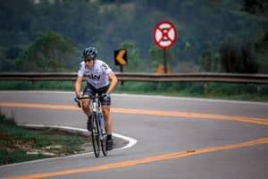 climbing hills on a road bike